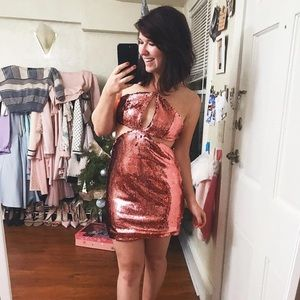 Glamourous Pink Sequin Dress